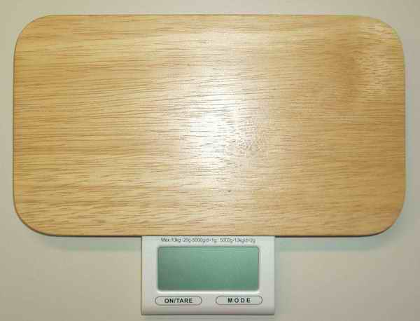 Digital touch bamboo food scale