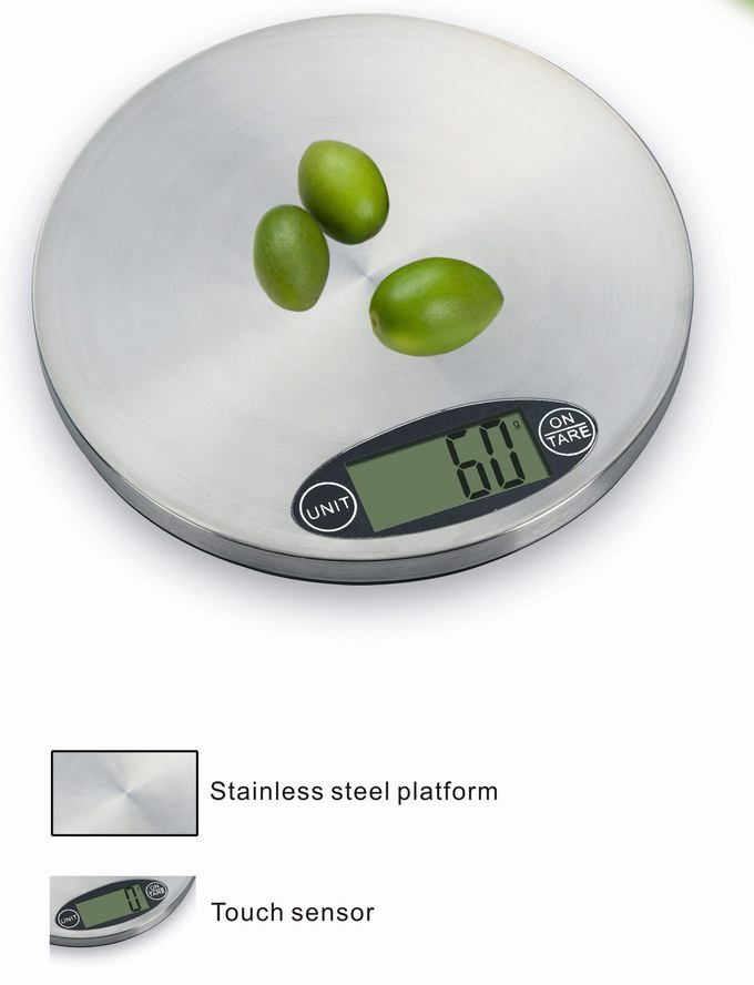 Touch stainless steel kitchen scale