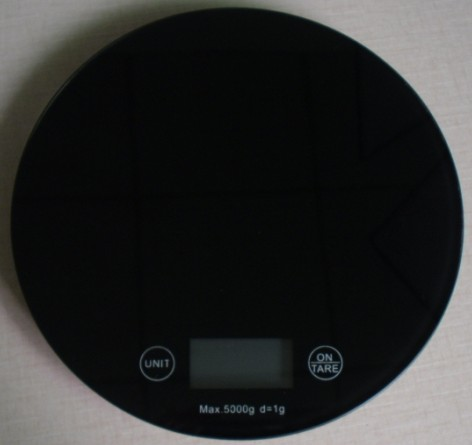 New round touch electronic kitchen weighing scale