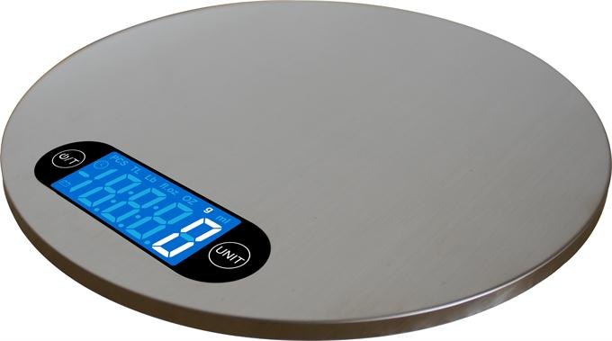 Round S&S kitchen scale wall mounted