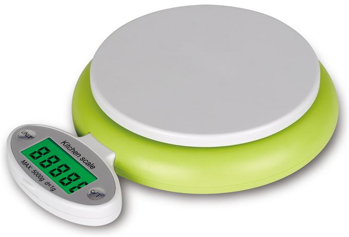 Novel kitchen scale with folding LCD
