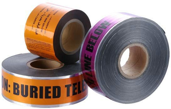 Underground Buried Aluminum Foil Detectable Warning Tape